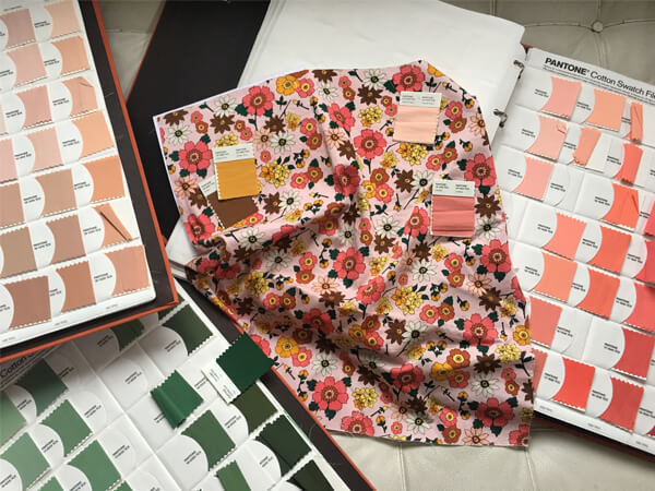 Colour fabric swatches